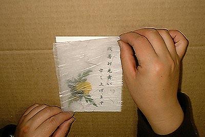 押し花はがきの作り方