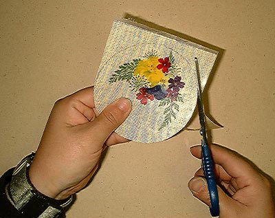押し花コースターの作り方